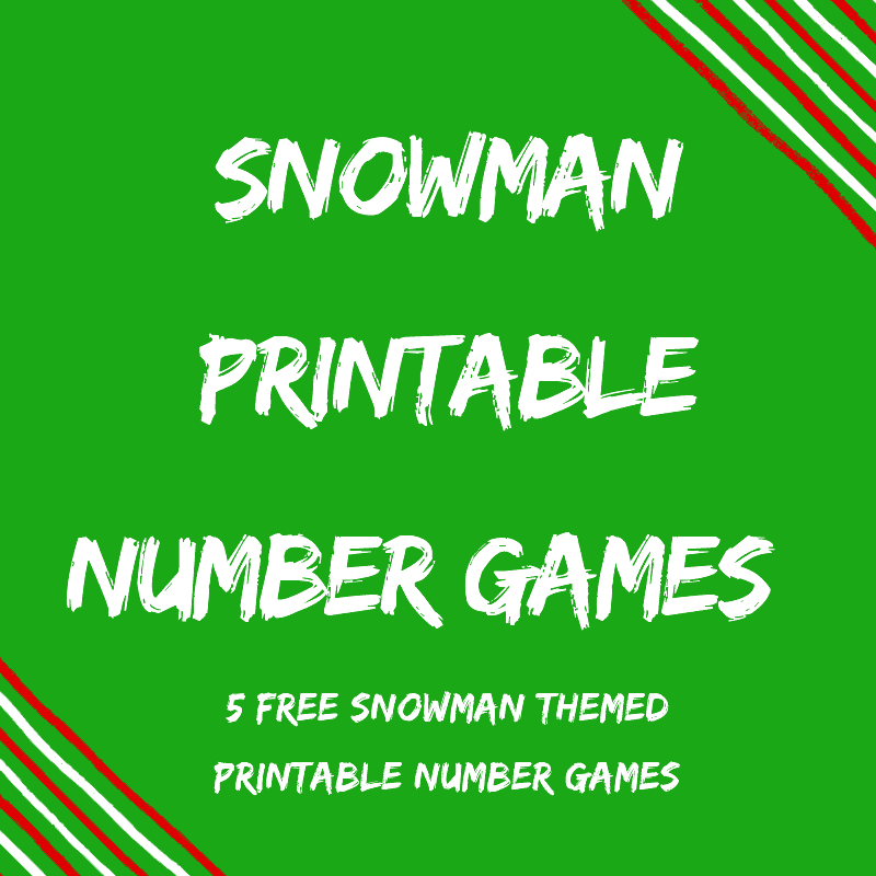 5 free Snowman Printable Number Games