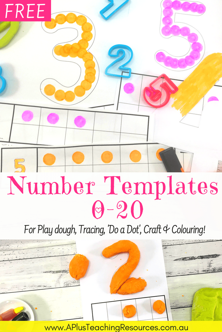 These FREE printable numbers are an essential number recognition basic in every classroom. Perfect for creative math including playdough, tracing and colouring! #number recognition #teacherfreebie #classroomfreebie #teachingmath