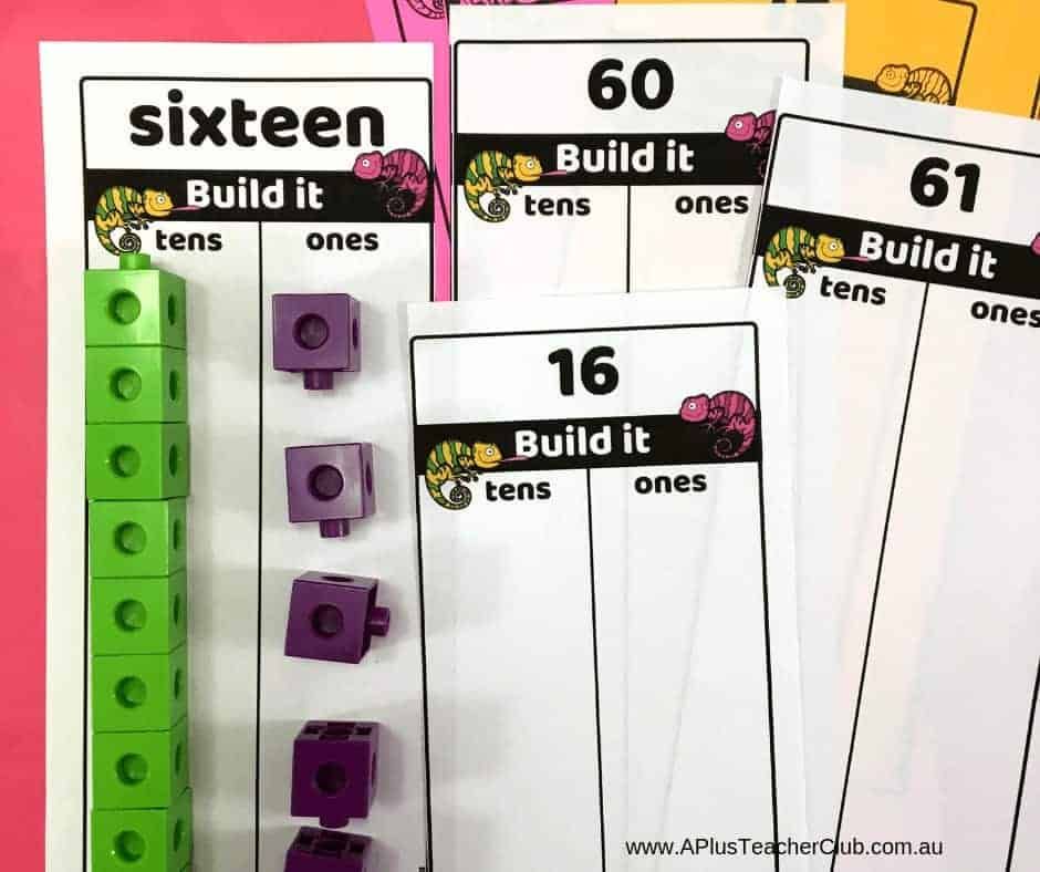 Place Value 2 digit numbers Build it boards product image