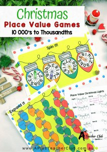 Christmas Place Value Game Printable Pinterest Pin