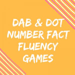 Number Fact Fluency – Roll, Dot & Write Dice Activities