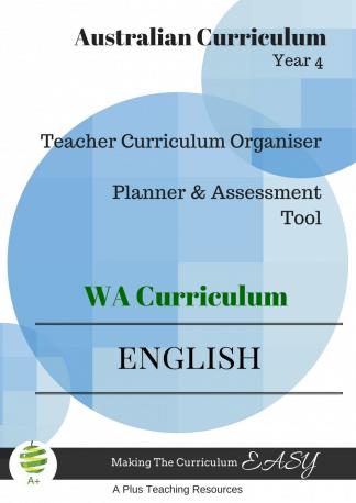 Year4 English Organiser WA