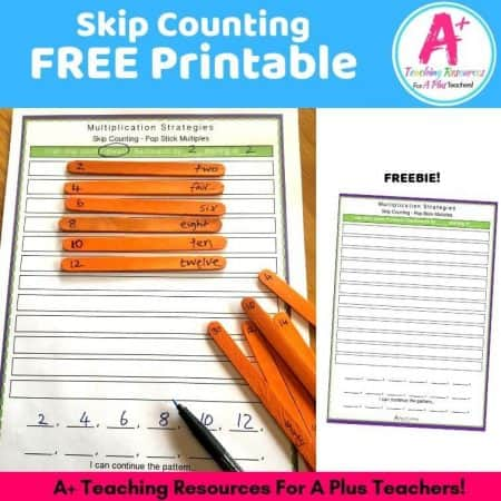 FREE Skip Counting Printable product image