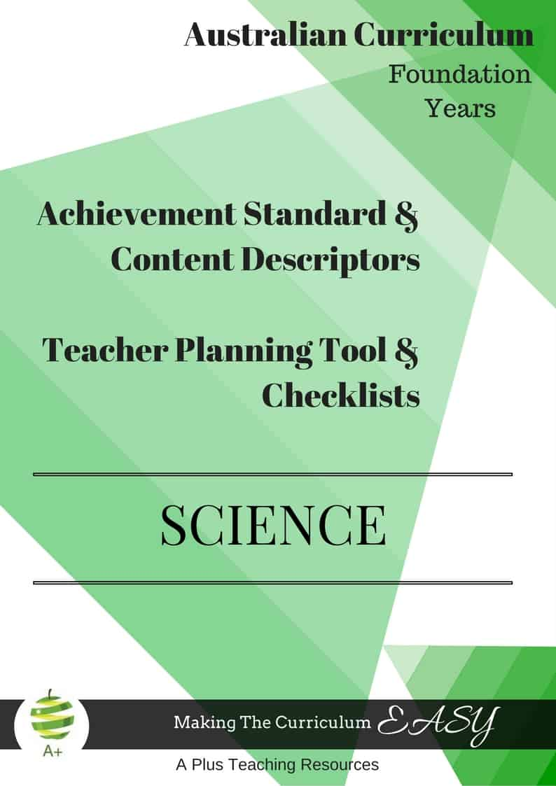 Foundation Editable Science Checklists