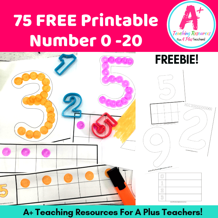 75 Free Printable Numbers Templates 0-20 - Perfect For Hands