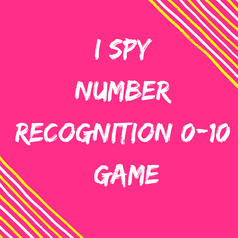 I Spy Number recognition game 0-10