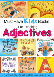 Pinterest Image of Books For Teaching Adjectives