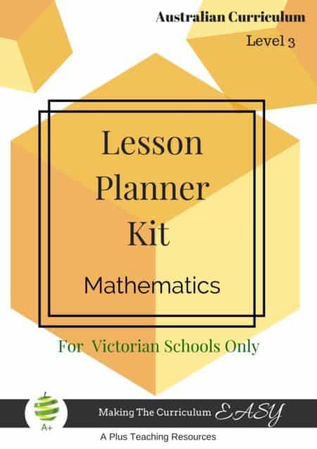 Lesson Planner Mathematics Level 3 Victorian Curriculum ...
