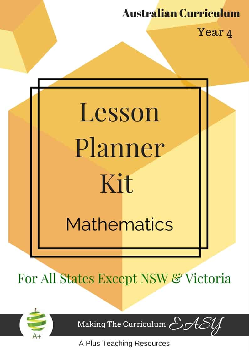 Year 4 Lesson Planner