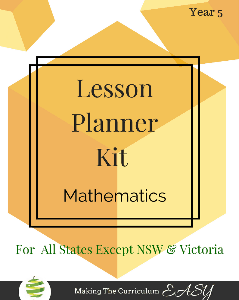 Year 5 Lesson Planner