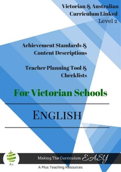 Victorian Curriculum Englsih