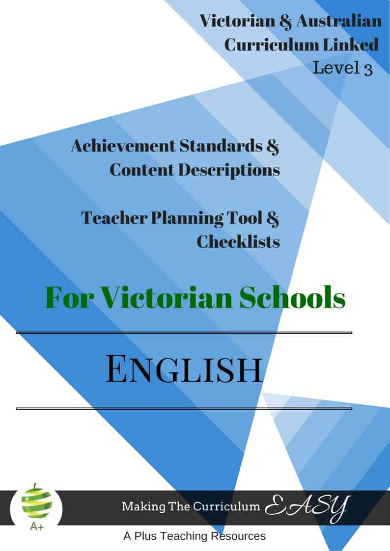 victorian curriculum editable checklists for level 3  u2013 a plus teaching resources