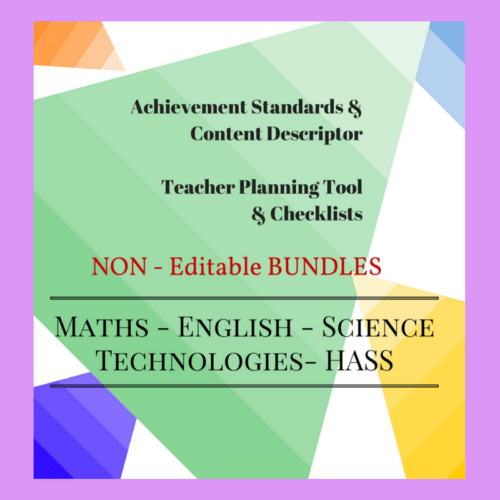 Non-Editable Checklists Bundle