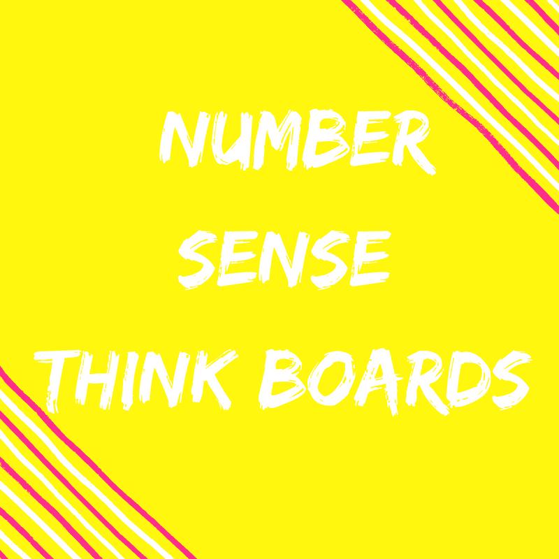 Number sense think boards