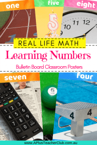 Numbers in Real Life Classroom Posters Pinterest Image