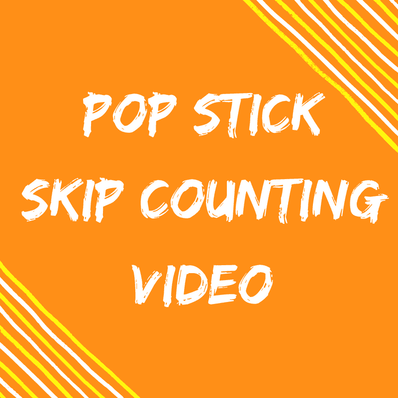 Pop Stick Skip Counting