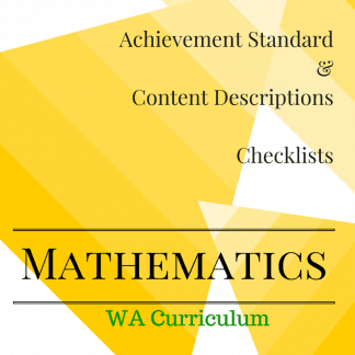 Pre-Primary WA Maths Checklists
