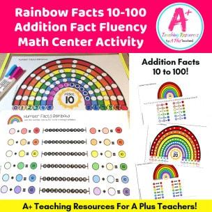 Rainbow Facts Math Center