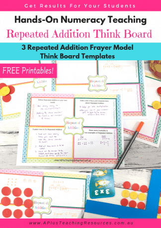 Free Repeated Addition think board template