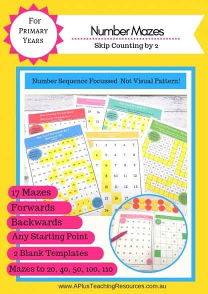 Skip Counting By 2 Number mazes