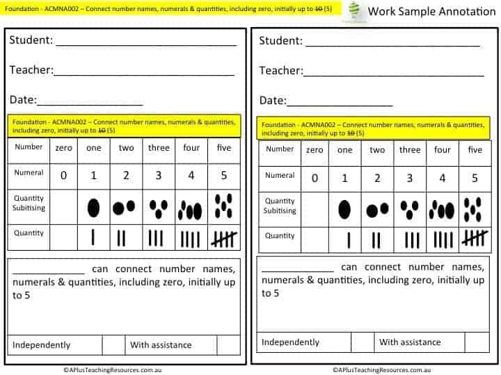 I Spy Number Detective assessment checklists 0-5