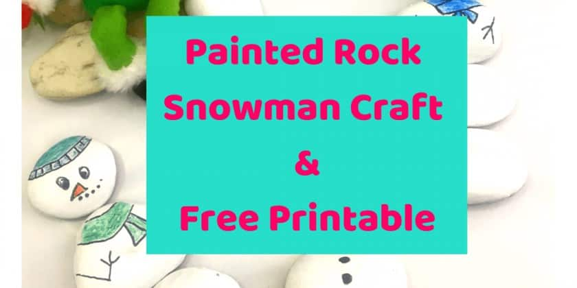 Painted Rock Snowman Craft For Teaching Math