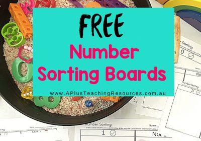 Number Sort Think Board {Frayer Model Activities 0-10}