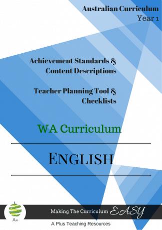 WA English Checklists Y1