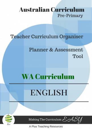 WA English Organiser Prepreimary