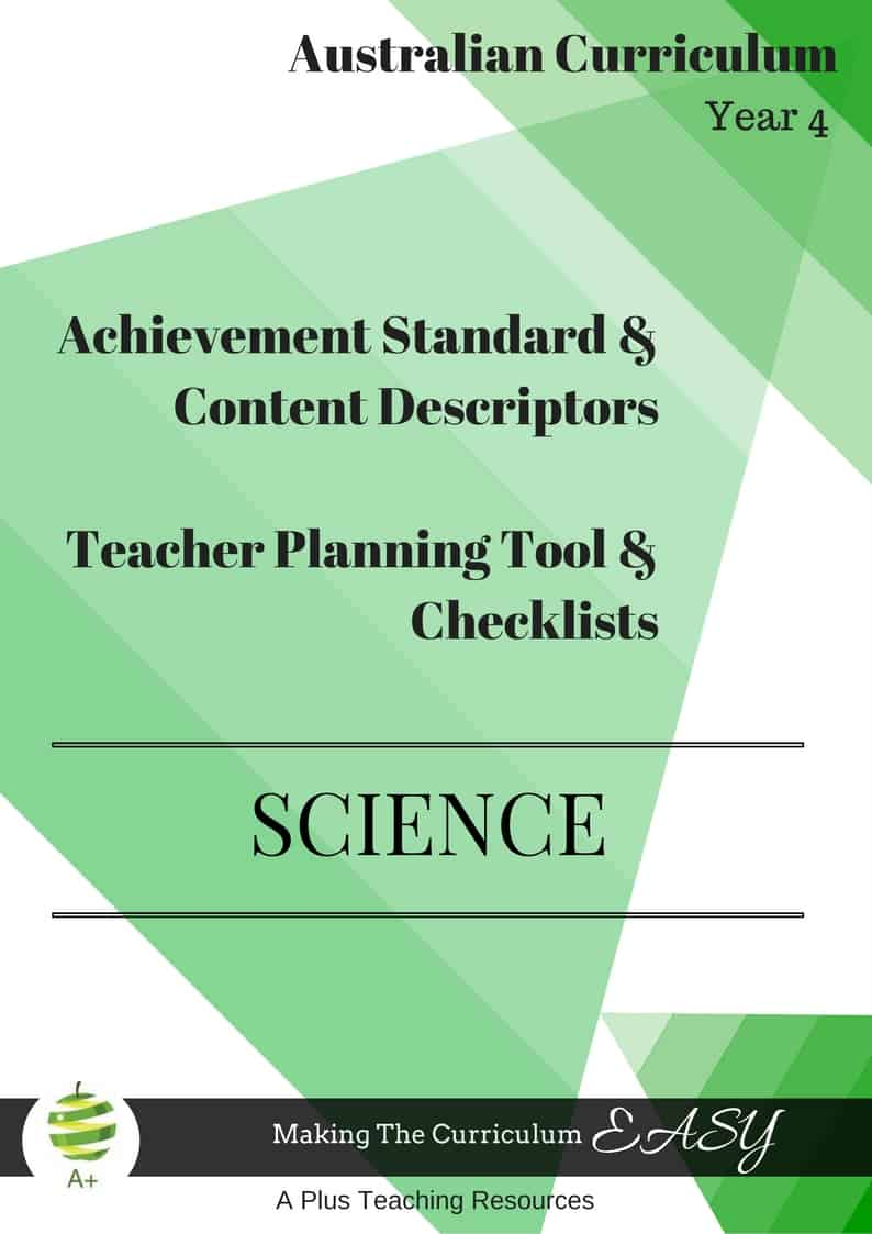 Y4 Editable Science Checklists
