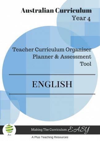 Y4 Teacher Organiser, Planner & Assessment Tool - ENGLISH