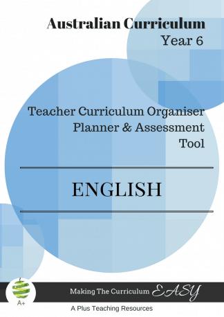 Y5 Teacher Organiser, Planner & Assessment Tool - ENGLISH