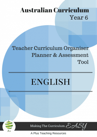Y6 Teacher Organiser, Planner & Assessment Tool - ENGLISH