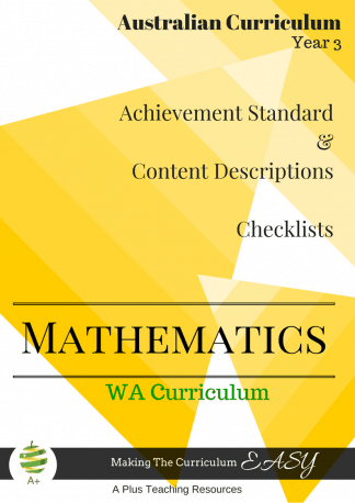 Year 3 WA Maths Checklists
