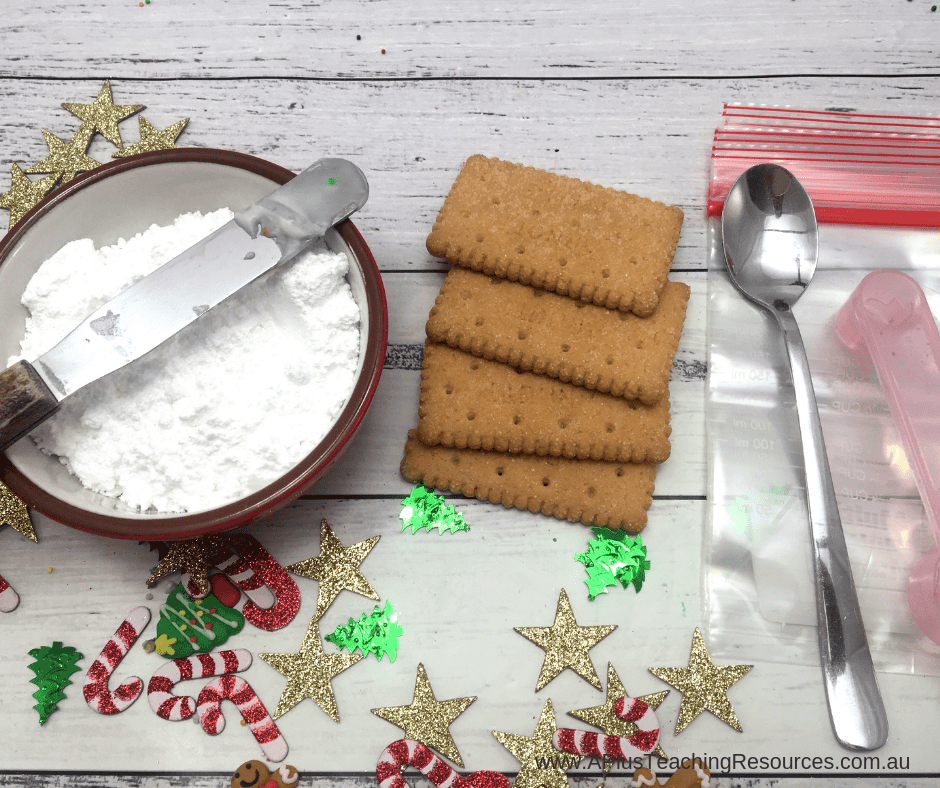 ingredients for gingerbread houses