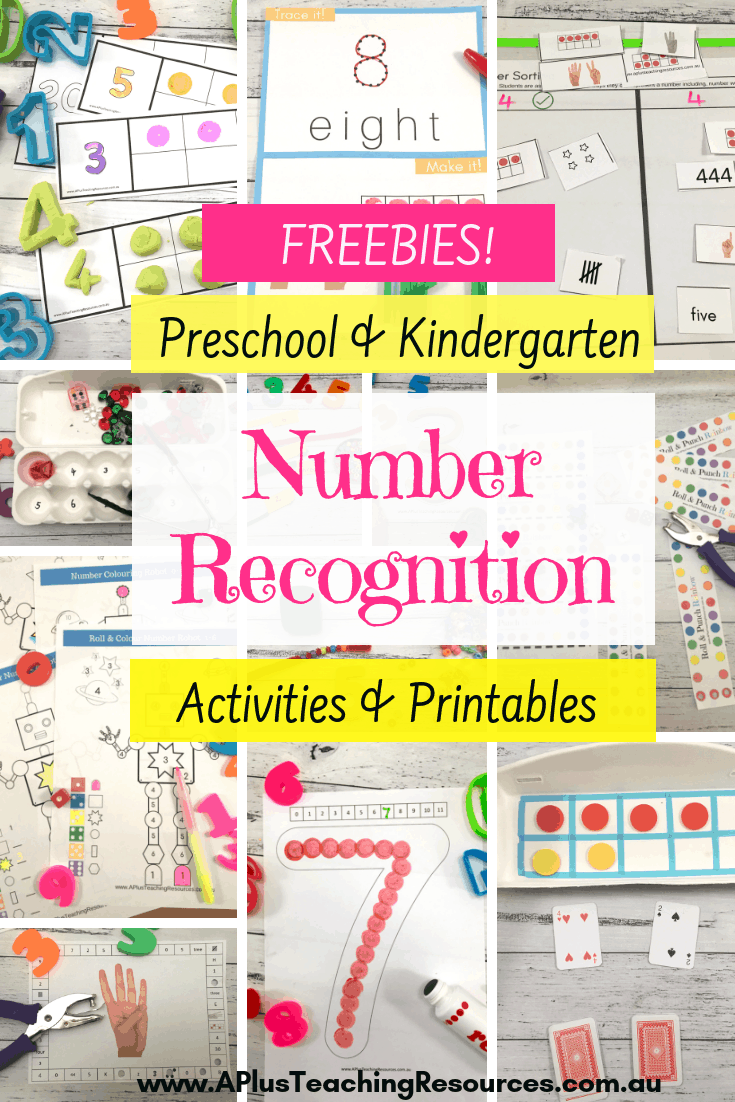 These amazing activitiesforTeaching Number Recognition are designed forkindergarten or preschool kids.Try these engaging hands-on activities and printables next time you're planning and teaching numeracy, for excellent results for your children! Visit Website For FREE Printables! #teaching #Math #Numbersense #counting #numbers #teacherfreebies #kindergarten