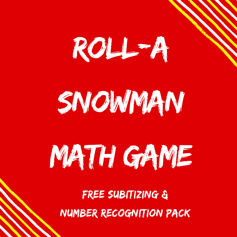 FREE roll a snowman math game