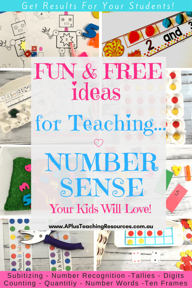 teaching number sense freebies