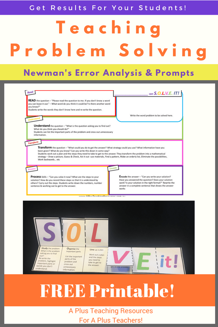 Teaching Problem Solving Using Newmans Prompts