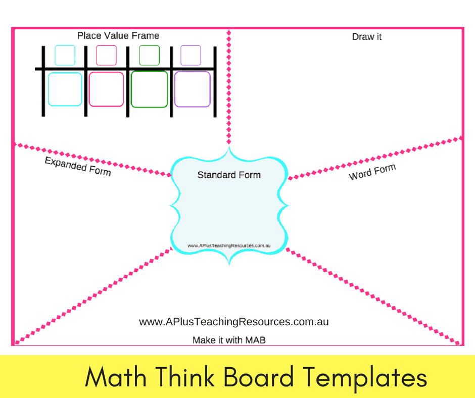 Math think board Template Pack