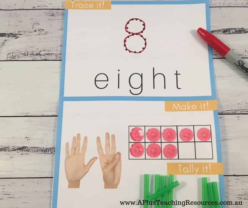 tracing numbers kit