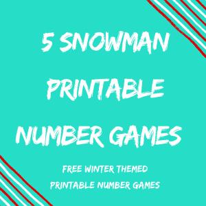 Winter Snowman Printable Number Games {5 Classroom FREEBIES}