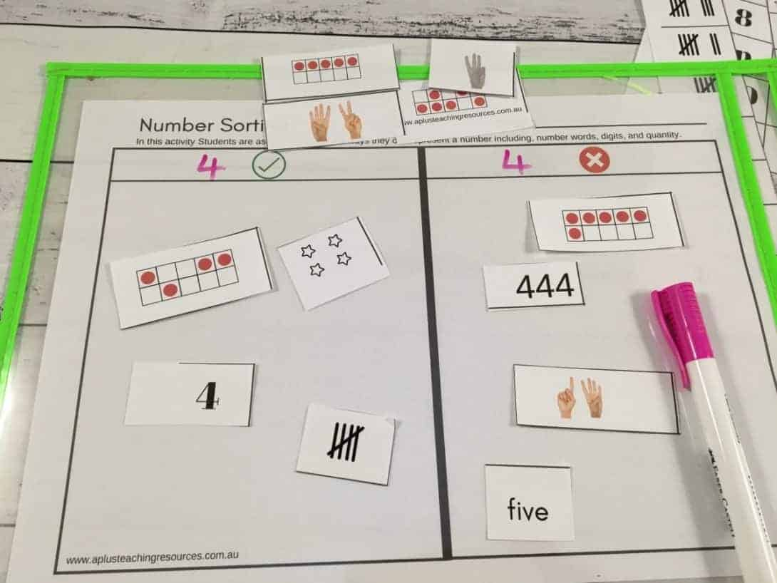 sorting numbers think board
